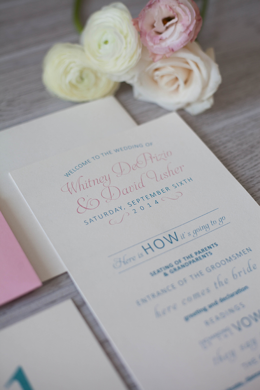 Wedding Program - French Inspired