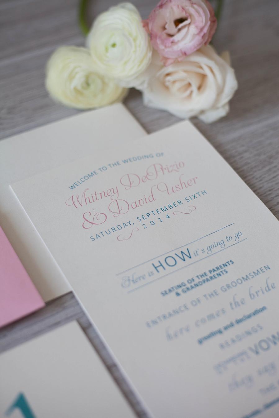 Wedding Program - French Inspired