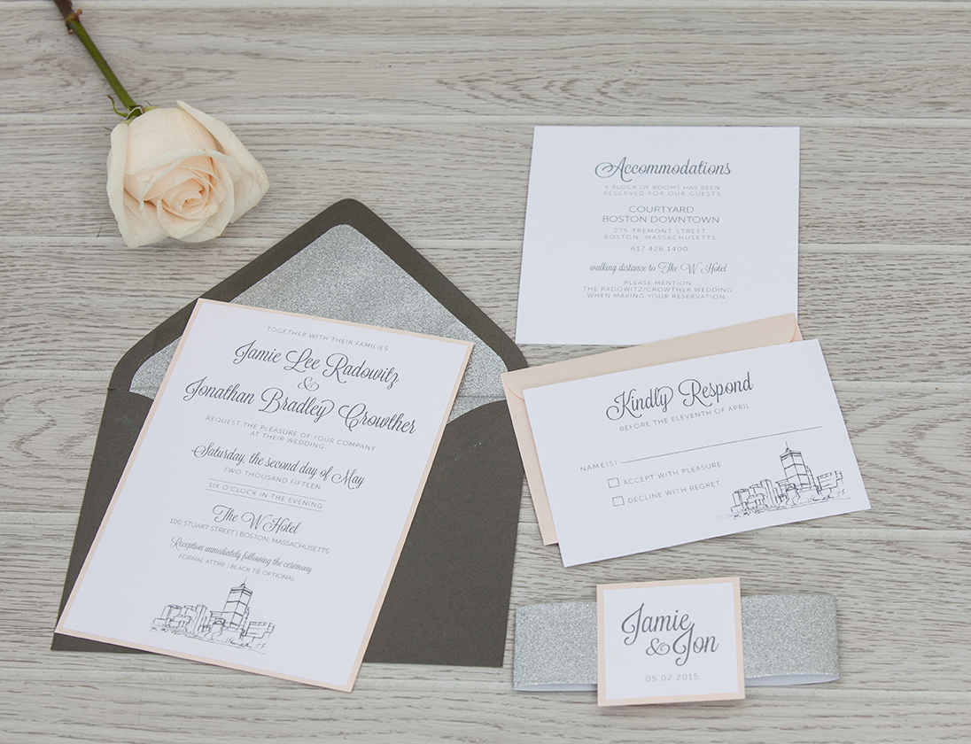 Bundled Wedding Invitation | Sparkle